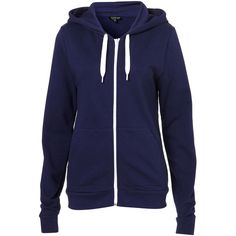 Basic Hoody (£36) ❤ liked on Polyvore featuring tops, hoodies, jackets, outerwear, sweaters, navy, navy blue hooded sweatshirt, hooded sweatshirt, hooded pullover and navy hoodie