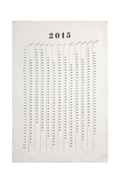2015 Calendar Tea Towel design by Sir/Madam
