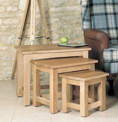 baumhaus mobel oak nest of 3 coffee tables 3 coffee tables coffee table with storage