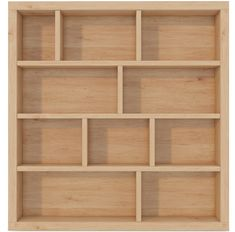 Scandinavian Natural Wood Bookcase - Home Page