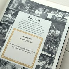 A commemorative Arsenal book filled with famous pictures of Arsenal players in action from throughout the twentieth century. The photos themselves have been taken by some of the worlds most famous sports photographers who were there to capture the action first hand. This compilation of Arsenal photography makes the ultimate piece of Arsenal memorabilia for fans to enjoy! #Gunners #FootballHistory