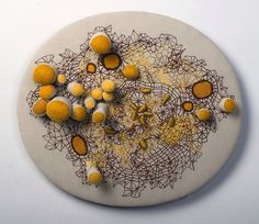 Embroidery Art Sculptures by Laura Bell Reveal New Worlds A Level Textiles, Textile Fabrics, Bio Art, Soft Sculpture, Art Sculptures, Embroidery Art, Embroidery Stitches, Fabric Manipulation, Textile Artists