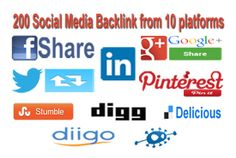 200 Social Media Backlinks from 10 platforms