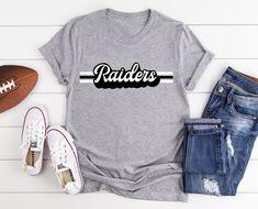 Retro Raiders Mascot, Unisex School Spirit, Raider Sports T-Shirt Cheer Dad Shirts, Cheerleading Shirts, College Cheerleading, Softball Shirts, Club Shirts, Team Shirts, Dad To Be Shirts, Spirit Game, Spirit Store