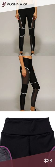 Mesh Leggings ! New Arrival!  Mesh Leggings ! XL SIZE! It stretches very well ! Comfy ! Available in pink color as seen in third and fourth pictures!   Spandex and nylon material. Pants Leggings