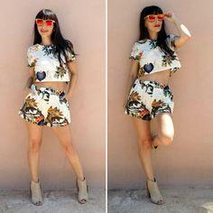 two-pieces - Temporada: Primavera-Verano - Tags: fashion, look, outfit, style, blogger, moda - Descripción: DOS PIEZAS PRINT TROPICAL