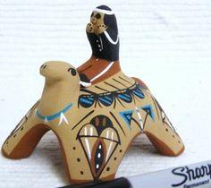 Indian Storyteller Story Teller Turtle Pottery by J. Herrera