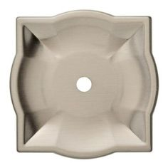 Liberty 2 in. Satin Nickel Quatrefoil Cabinet Knob Backplate-P31427C-SN-C - The Home Depot