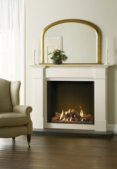 The Gazco Riva2 800 gas fire can also be combined with your choice of elegant stone mantel. There are six designs to suit both traditional interiors and mo
