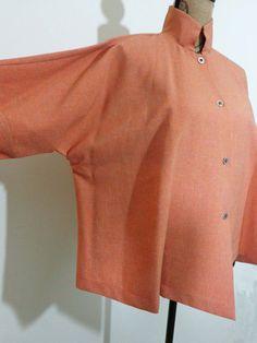 Itemz Chris Baumgartner jacket lagenlook artsy monk art wear linen sz OS New #ItemzChrisBaumgartner #BasicJacket
