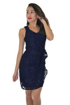 PSL Gathered Lace Dress in Navy Lace Dress, Navy, Formal Dresses, Fashion, Hale Navy, Dresses For Formal, Moda, Dress Lace, Formal Gowns