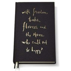 """Kate Spade New York """"With Freedom"""" Diary Journal Notebook 21cm x 13cm 300 pages $49.95"""