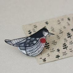 Extinct Birds  Tahiti Sandpiper  Pin by LilaRubyKingShop on Etsy, $19.00