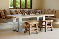 Si te gustan las mesas de madera maciza para poner en el comedor, he aquí 8 inspiraciones que te ayudarán a elegir el mejor modelo.