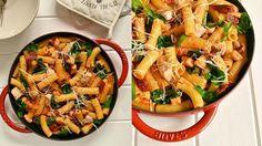 Těstoviny s lososem a rajčaty  Foto: Japchae, Paella, Pesto, Food Porn, Fresh, Ethnic Recipes, Treats