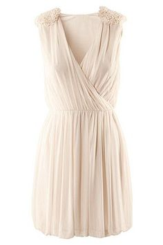 Wrap Embellished Shoulder Dress. This is my idea of a casual wedding dress.