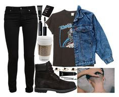 """""""send me a sign"""" by velvet-ears ❤ liked on Polyvore featuring MadeWorn, Paige Denim, Levi's, Timberland, MAC Cosmetics, Make, NARS Cosmetics, Bobbi Brown Cosmetics and BOBBY"""