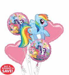 My Little Pony Rainbow Dash Bouquet Balloons, My Little Pony Party Balloons, My Little Pony Birthday Balloons, Rainbow Dash Birthday, Rainbow Dash Party, My Little Pony Birthday Party, My Little Pony Balloons, My Little Pony Decorations, Birthday Bouquet, Balloon Bouquet, Birthday Party Decorations, Birthday Ideas