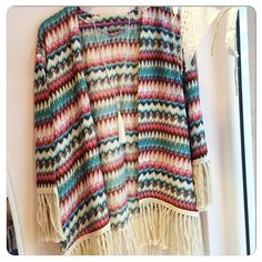 "Boho summer Kimono ""misolike"" with cotton offwhite tassels"