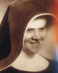 Blessed Sister Zdenka Cecilia Schelingova of the congregation of the Sisters of charity of the Holy Cross in Slovakia. She helped save priest from sure death by the communist.