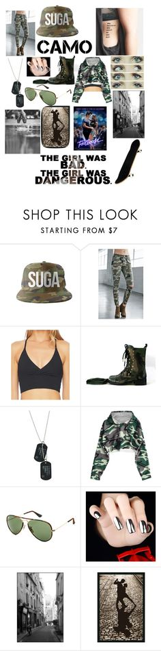 """Street Dancer"" by shaylatho ❤ liked on Polyvore featuring Bullhead Denim Co., Spiritual Gangster, Valentino, Ray-Ban and Silhouette"