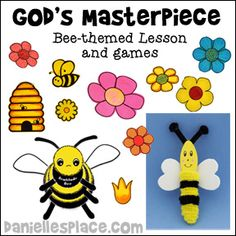 """""""God's Masterpiece"""" Bee-themed Sunday School Lesson for Children's Ministry from www.daniellesplace.com"""