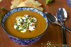 The Café Sucré Farine: Roasted Carrot & Coriander Soup w/ Toasted Pine Nut & Fresh Herb Gremolata