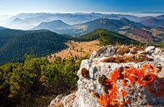 Slovakia - Igor Supuka 161 - Europe, Slovak republic, view from Veľký Choč hill to Veľká Fatra national park and Malá Fatra national park