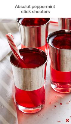 In search of a spirit-infused drink that'll knock their socks off at the Christmas party? This ruby-hued shooter recipe, garnished with a candy cane swizzle stick, is a treat for the palate—and the eyes. The pomegranate and grenadine create a deep, luscious red that's perfect for the season. Find this and more holiday cocktail recipes at Target.com.