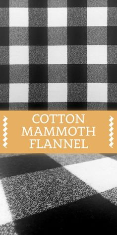Cotton Mammoth Flannel with Black and White Check Cotton) Textile Pattern Design, Textile Patterns, Textiles, Different Types Of Fabric, Kinds Of Fabric, B And J Fabrics, Art N Craft, Baby Boy Blankets, Panel Quilts