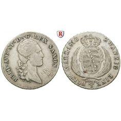 Sachsen, Königreich Sachsen, Friedrich August I., 2/3 Taler 1816, ss: Friedrich August I. 1806-1827. 2/3 Taler 1816 Dresden. AKS 32;… #coins