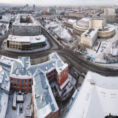 Novosibirsk Opera under snow