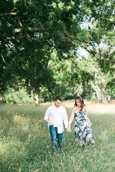 Austin + Conner | Engagement Session | Chickamauga Battlefield | Fort Oglethorpe, Georgia | engagement, photo, session, pose, couple, trees, field, magical, bright, romantic, film, standing