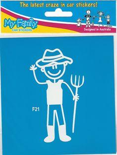 Autosticker van een vader / man die boerderij werkt. Prijs € 2,49 Family Car Stickers, Sticker Design, My Family, Vader, Meet, Movie Posters, Film Poster, Popcorn Posters, Families