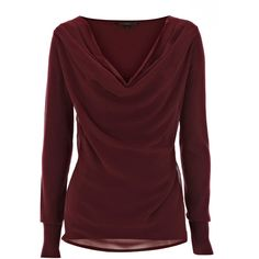 A stunning loose knit top with an alluring cowl neck detail. The Top features full length sleeves with elasticated cuffs for a neat finish. Team with skinny je…