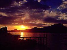 sunset at baia stanca