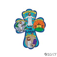 Color Your Own Holy Week Crosses