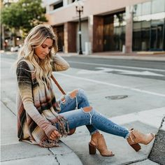 Women Midi Cardigan Autumn Striped Knitted Casual Coat Female Loose Jumper Elegant Women's Clothing Winter Shrug Tassel Sweater - Miss. Cardigan Sweaters For Women, Cute Sweaters, Cardigans For Women, Long Sleeve Sweater, Winter Sweaters, Winter Coats Women, Coats For Women, Clothes For Women, Sweater Fashion
