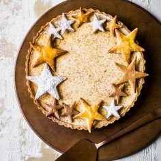 Try our custard tart recipe with eggnog. This easy English custard tart recipe is a quick and easy Christmas inspired dessert recipe, a giant custard tart Christmas Pudding, Christmas Trifle, Christmas Desserts Easy, Christmas Baking, Christmas Pies, Christmas Star, Holiday Baking, Christmas 2017, Simple Christmas