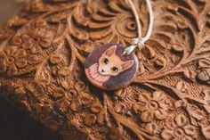 Cozy sphinx pendant with earring от TaigaTheBorealForest на Etsy