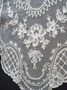 french+lace+tablecloths | antique french lace long runner lovely beautiful antique french lace ... Textile Patterns, Textiles, Linens And Lace, Old Jewelry, Letter Art, French Lace, Lace Design, Vintage Sewing Patterns, French Antiques