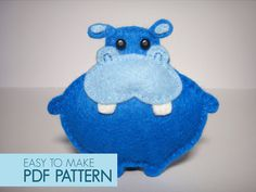 Easy to sew felt PDF pattern. DIY Pippo the by Phoraminiphera, $5.00