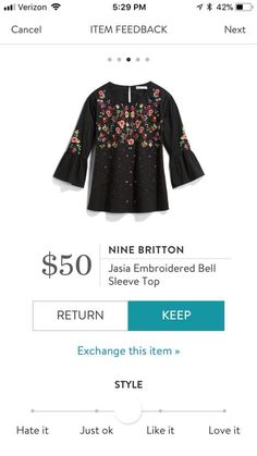 Embroidery and bell sleeves