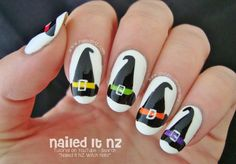 Nailed It NZ: Witch Hat Nail Art for Halloween! http://www.naileditnz.com/2014/10/witch-hat-nail-art-for-halloween.html