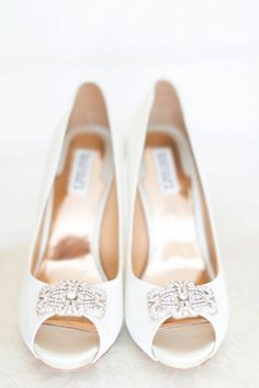 White Badgley Mischka shoes