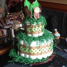 Baby Shower Safari Diaper Cake!