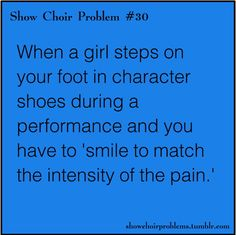 We don't have character shoes, but I feel like this is something Miss Wood would say
