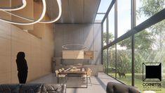 cornetta arquitetura, architecture, prefab, pre moldados, concreto aparente, ambientes conjugados, pé direito duplo, vidro, varanda