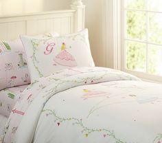 Grace Embroidered Duvet Cover | Pottery Barn Kids.   Finially found the bedding for avaris bed!