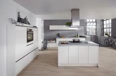 Zu Einer Weißen Küche Passen Elektrogeräte In Edelstahl, Black Steel Oder  Schwarz Am Besten.